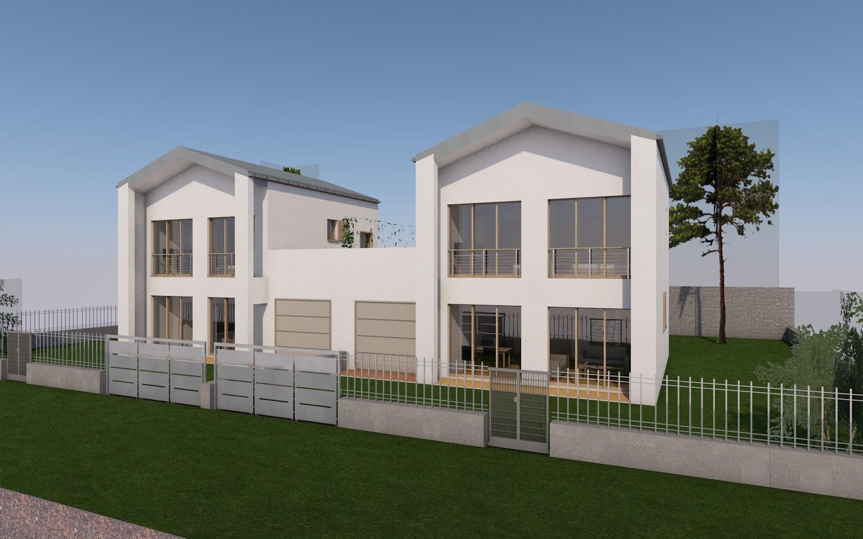 Cool progetto villa bifamiliare with progetto villa singola for Villa moderna progetto